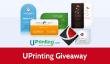 UPrinting Giveaway: 3 séries de Die Cut Cartes de visite