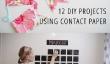 12 Projets de bricolage amusantes utilisant contacter papier