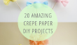 20 papier crépon incroyable bricolage projets!