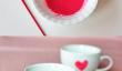 Décorez votre propre Valentines Day vaisselle avec Paint comestibles