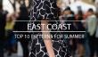 Top 10 des modèles pour l'été: la côte Est
