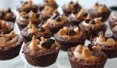 Simple dimanche du Super Bowl Dessert: Mini Brownies au beurre d'arachide