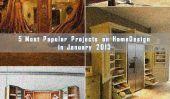 5 projets les plus populaires présentés sur Home Design en Janvier 2013