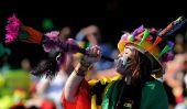 Ventilateurs farfelus et colorés à la Coupe du Monde
