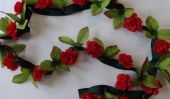 Un bricolage super facile rose guirlande qui est parfait pour la Saint Valentin