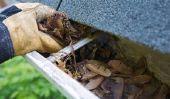Gutter couvrant installer - de sorte que les feuilles ne sera pas obstruer votre gouttière