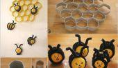 Mignon Beehive Made bricolage sur des rouleaux de papier et de Kinder Surprise
