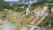 Vallée des geysers au Kamtchatka, en Russie