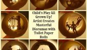 Jeu d'enfant All Grown Up!  Artiste Crée Masterful dioramas avec des rouleaux de papier toilette (PHOTOS)