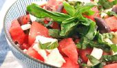 Pastèque et feta Salade: sucré, salé et délicieux!