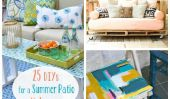 25 DIYs pour un Patio Makeover Summer