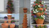 Comment faire un pot en terre cuite Tower Flower
