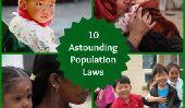 10 lois Astounding Population du monde entier