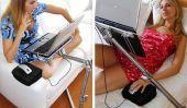 Quelle est la posture la plus confortable pour l'aide d'un ordinateur portable sur le lit?  Nottable Laptop Stand par Nelson Motta