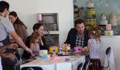 Ben Affleck et Jennifer Garner prennent leurs filles à Cakemix Pour un après-midi Family Fun (Photos)