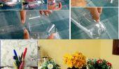 Bouteilles en plastique de bricolage fleurs Vase