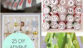 25 DIY Calendriers de l'Avent