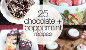 Parfait 25 menthe poivrée et de chocolat Recettes pour les vacances!