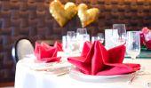 Idées de bricolage pour la Saint Valentin - un tel succès une décoration de table romantique