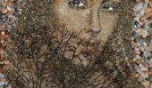 Belles mosaïques de sable et de coquillages par Svetlana Ivanchenko