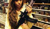 '19 Enfants et Counting 'Moulage de famille: Jessa Duggar Takes photo avec un fusil, suscite la controverse