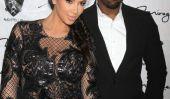 Hou La La!  Kim Kardashian enceinte Wears Robe Sheer réveillon du Nouvel An!  (Photos)