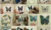 Papillons de bricolage à partir de bouteilles en plastique