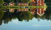 Suède Småland - une carte de la province suédoise dessiner de manière