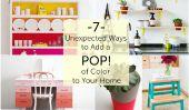 7 façons inattendues pour ajouter une touche de couleur à votre maison