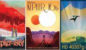 Exoplanet affiches de voyage de rêve de la NASA de Out Of The World Vacations