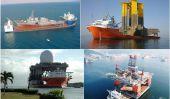 Les navires lourds de levage et de leurs cargaisons incroyablement massives