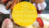 15 Non-Lemonade Lemonade Recettes à Gear Up pour le printemps!
