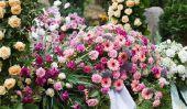Urne funéraire - fleurs se couchent bien