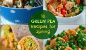 Recettes de pois verts pour le printemps