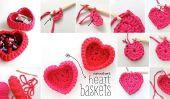 DIY Crochet Coeur paniers de rangement en forme