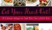 Afficher 'Em You Love' Em!  15 Treats Clever forme de coeur déjà dans votre garde-manger