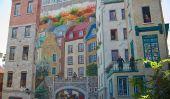 Les yeux Tromper les peintures murales de la ville de Québec