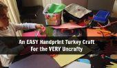 Une empreinte de main facile Turquie Thanksgiving Craft pour découvrir les UnCrafty