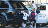 David Beckham et les garçons jouent au football, plus ils sont Fragrance les testeurs de David!  (Photos)