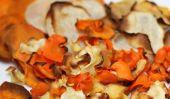 Baked racines Chips de légumes: Facile sur la taille et le porte-monnaie