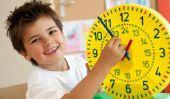 Lire horloge à apprendre - comment cela fonctionne ludique avec les enfants