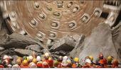 Suisse foreuses, l'tunnel ferroviaire le plus long du monde
