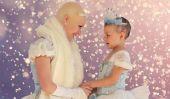 Cette Cendrillon chauve a montré une brave petite fille ce une vraie princesse ressemble