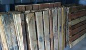 Projet de bricolage: palettes en bois Plancher