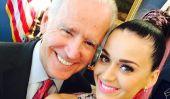 Katy Perry prend des photos Selfie Avec Joe Biden, Hillary Clinton