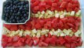Pastèque patriotique et drapeau Feta