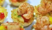 Recette Apéritif: crevettes à la mangue phyllo Coupes sont un Finger Food Facile Parti