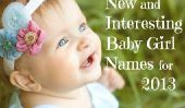 Nouveau et intéressant noms de bébé pour 2013