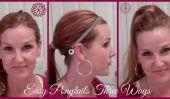 Tutorial cheveux: Trois Facile Ponytails en quelques minutes | Put Your Self Première |