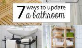 7 façons de mettre à jour une salle de bain Sans Rénovation